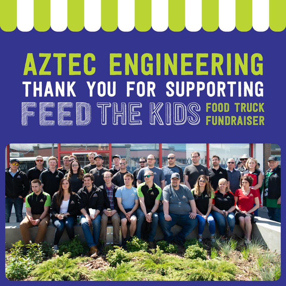 Huge SHOUT OUT to Aztec Engineering for their support of the Feed the Kids event!