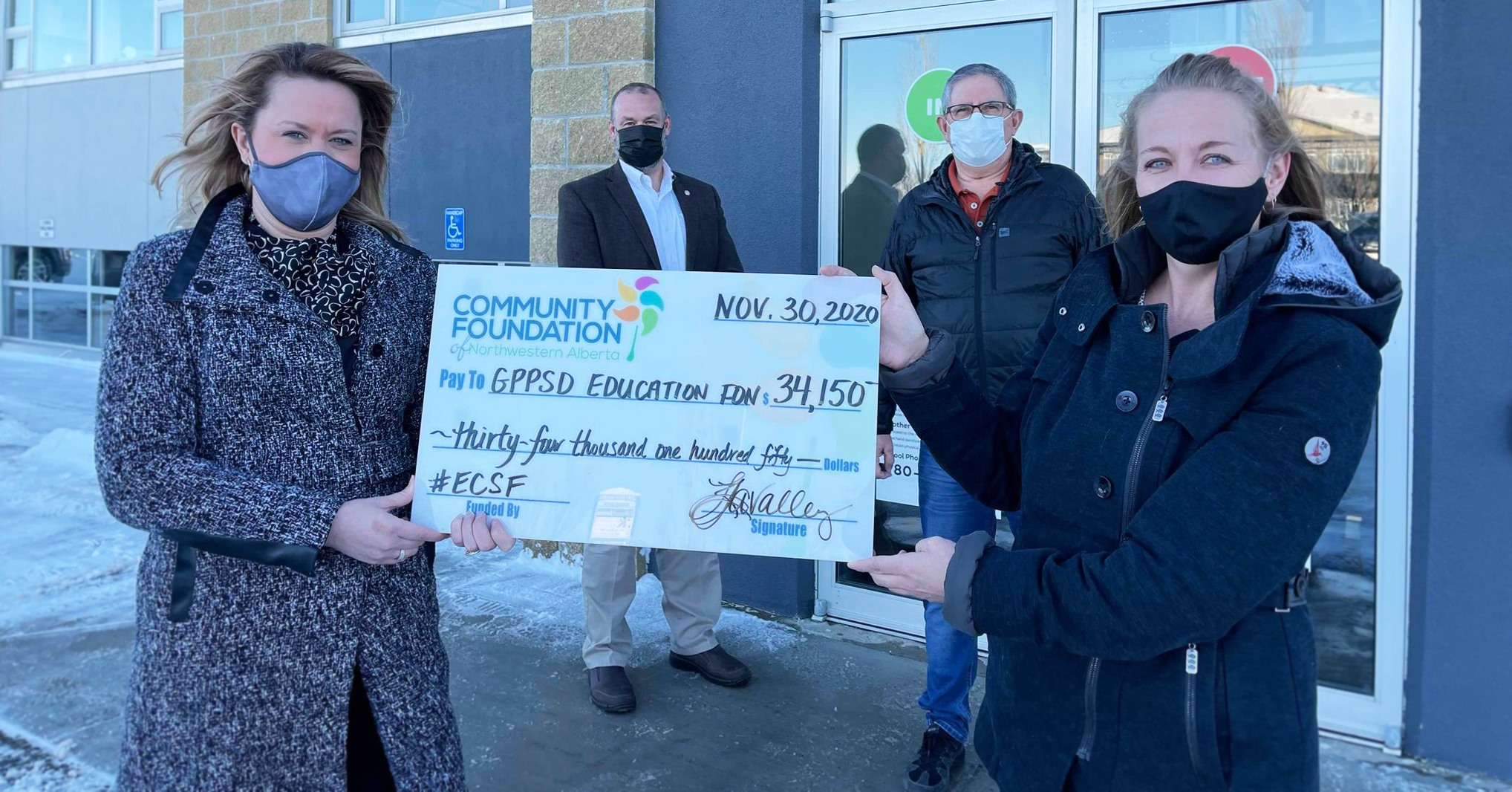 GPPSD Education Foundation received $34,150.00 in support of student health & wellness