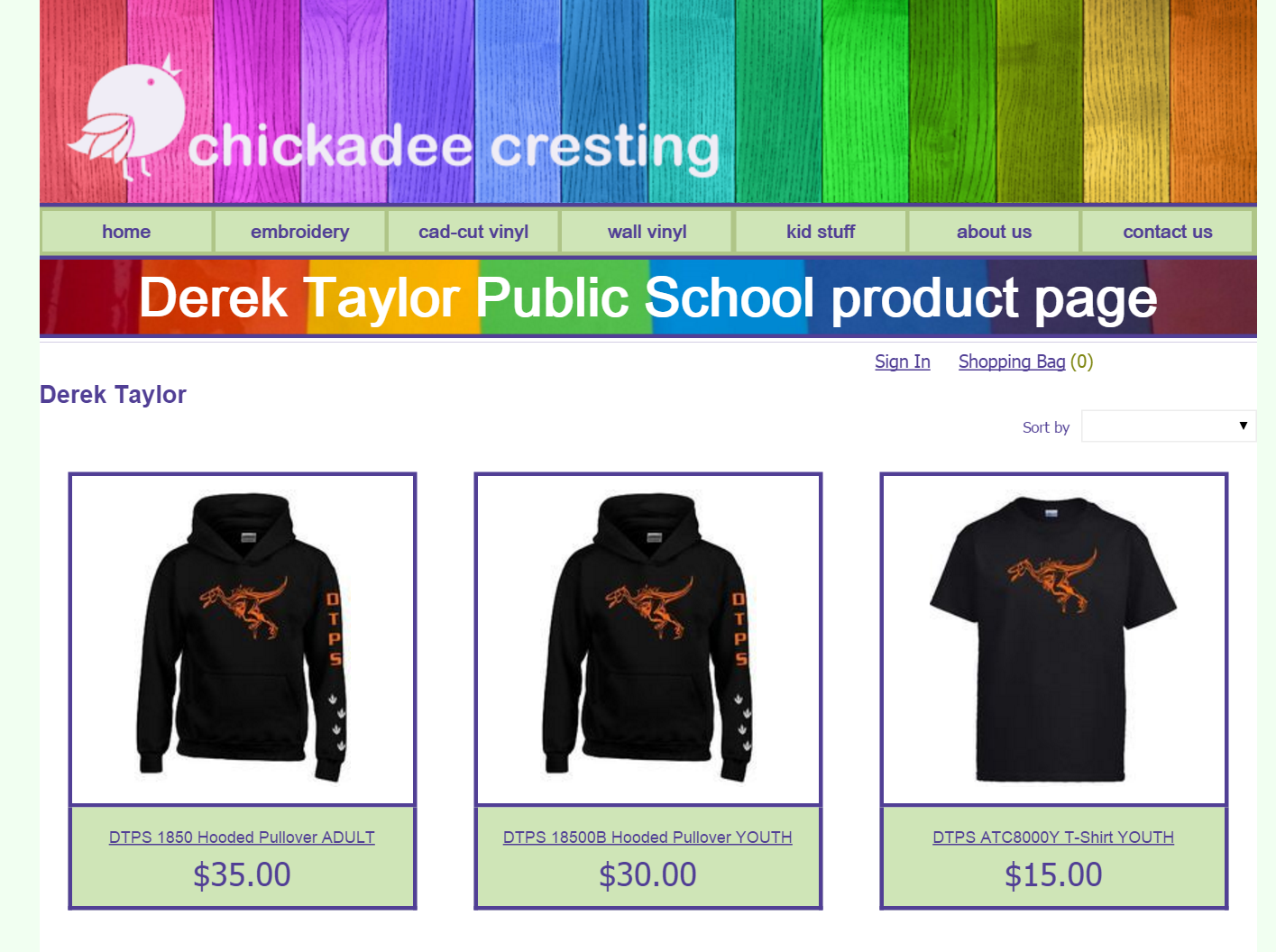 Check out our DTPS school clothing, now available to order!