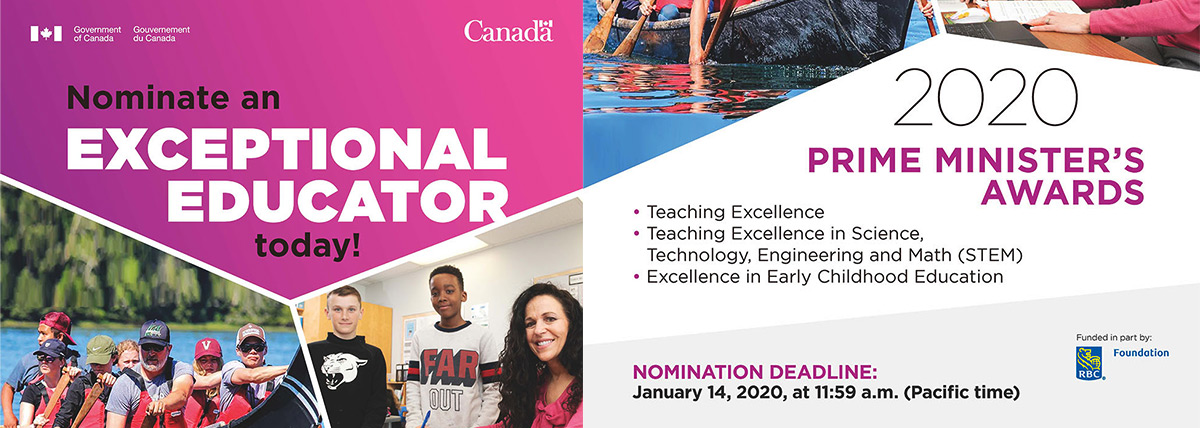 Nominate an exceptional GPPSD Educator for the 2020 Prime Minister's Awards